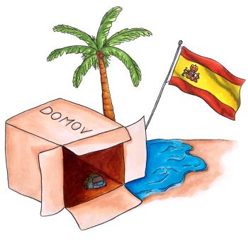 Španělsko ilustrace - Sylvie Kavíková